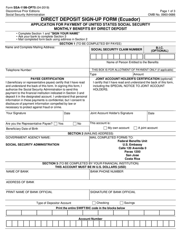 Fill Free Fillable Forms Social Security Administration