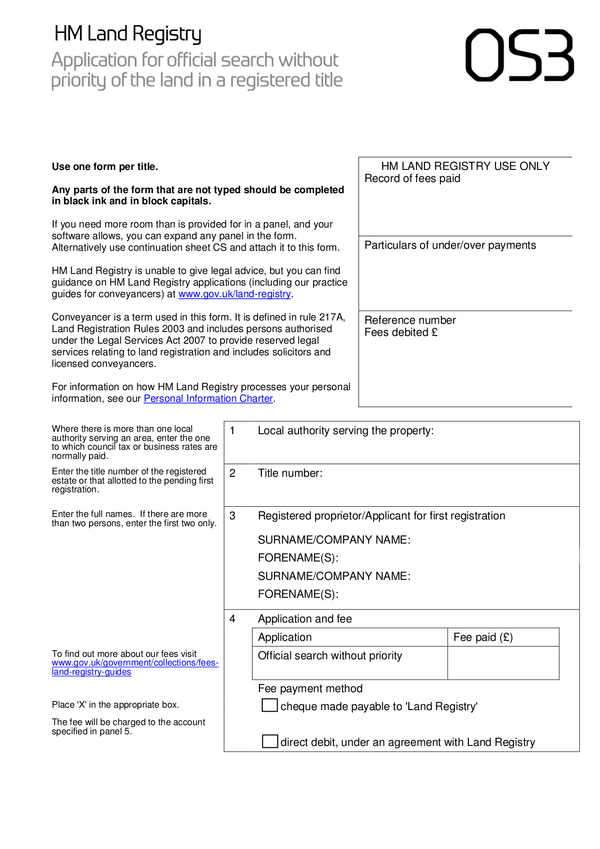 Land Registry Tr1 >> Fill - Free fillable HM Land Registry PDF forms