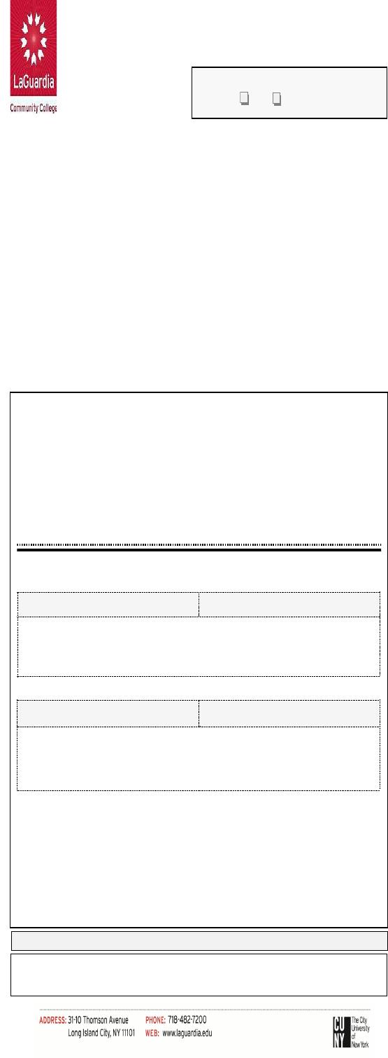 Laguardia Community College Calendar 2022.Fill Free Fillable Laguardia Community College Office Of The Registrar Pdf Form