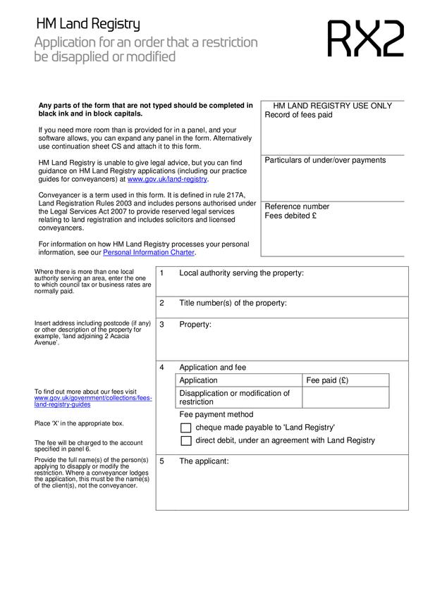 Land Registry Tr1 >> Fill Free Fillable Hm Land Registry Pdf Forms